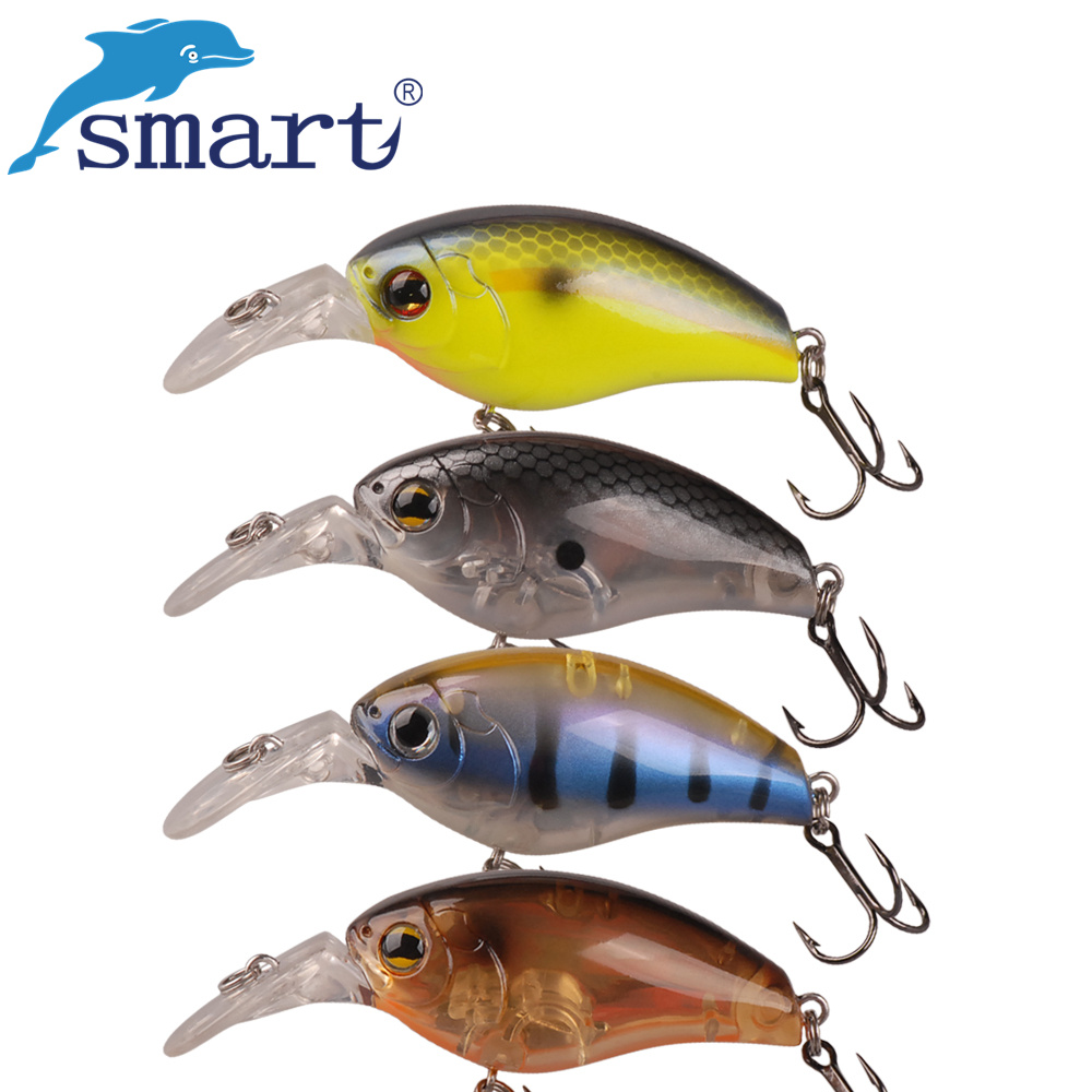 Smart Crankbait 4.8cm 8.2g Floating(0.6m) Fishing Lures VMC Hook Isca Artificial Pesca Leurre Peche Crankbait Fishing Wobblers