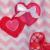 Conjuntos de Roupas Crianças Chevron Boutique Remake Camisas Com Amor Em Forma de Coração Vermelho Calças Plissado Bebê Meninas Outfits Para Valentine V005