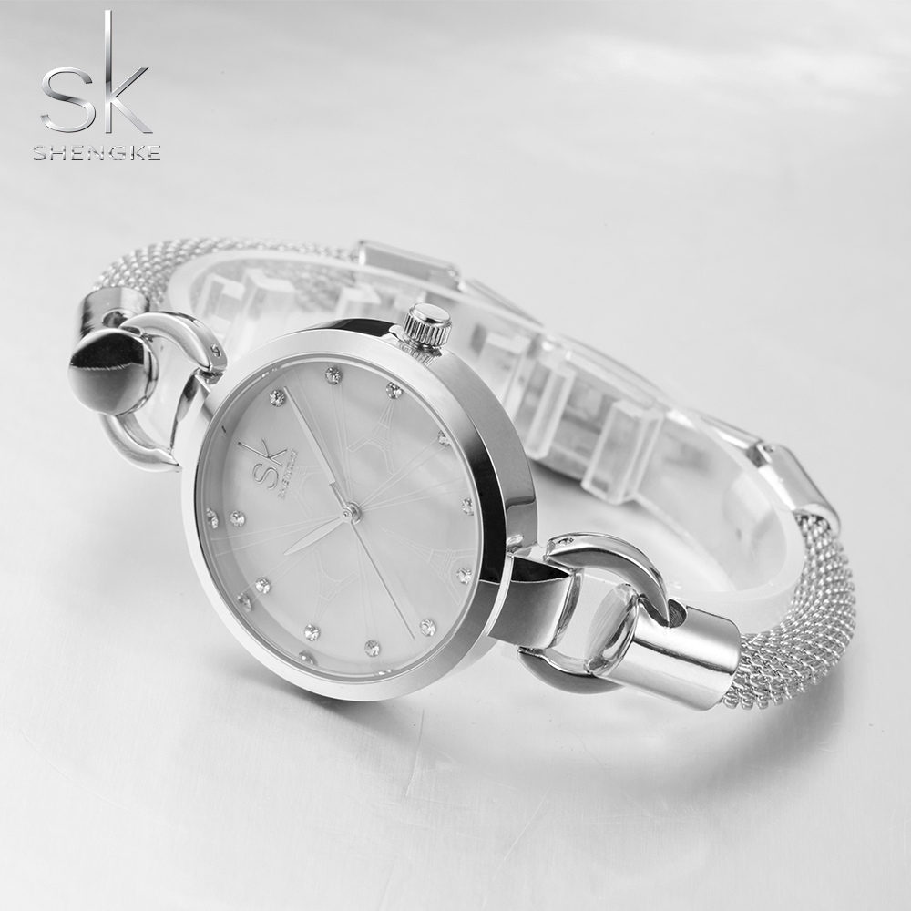 Shengke Female Quartz Watches Women Hollow Bracelet Clock Ladies Luxury Dress Wrist Watch SK New Girls Montre Femme 2017 Hodinky newly design dress ladies watches women leather analog clock women hour quartz wrist watch montre femme saat erkekler hot sale