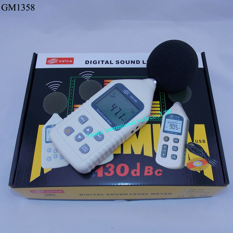 ФОТО Noise meter  GM1358 Digital Sound Noise Level Meter Decibel Pressure 30-130dB LCD A/C FAST/SLOW dB   With Carry Box