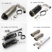 Silp on For Yamaha FZ1 FZ6 FZ6N FZ6S FZ8 FZ8N 2009-18 Motorcycle Middle Section Connecting Exhaust Muffler Pipe DB Killer System fz6n fz6s motorcycle exhaust muffler mid pipe slip on for yamaha fz 6n fz 6s fz6 middle pipe with carbon fiber exhaust laser log