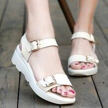 Mudibear frauen sandalen PU Leder flachen Sandalen Keile Sommer Schuhe frauen Offene spitze Plattform Sandalen frauen freizeitschuhe