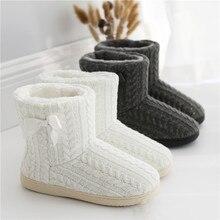 Suihyung bottines chaudes en cachemire pour femmes, chaussures dextérieur, courtes rembourrées en coton et en peluche, à nœud épais en cachemire