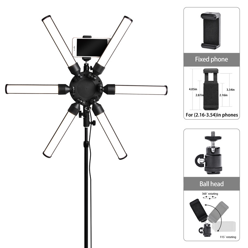 Image 5 - Fusitu TL 900S plus Photography light 3200 5600K Multimedia Extreme Star Ring Light Camera Phone Video led Ring Lamp with tripod-in Photographic Lighting from Consumer Electronics
