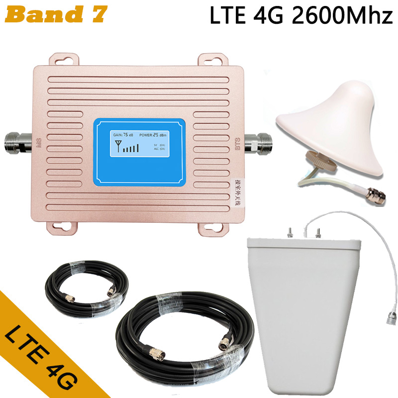 Full Set LTE 4G FDD 2600mhz Band 7 Cell Phone Booster Mobile Phone Signal Repeater With LCD Display Home/office Use Amplifier