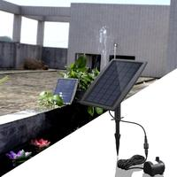 2.5W Solar Fountain Powered Pump Low Energy Consumption Nozzle Water Pump for Garden Pool Decorations Mini Fountain Tool