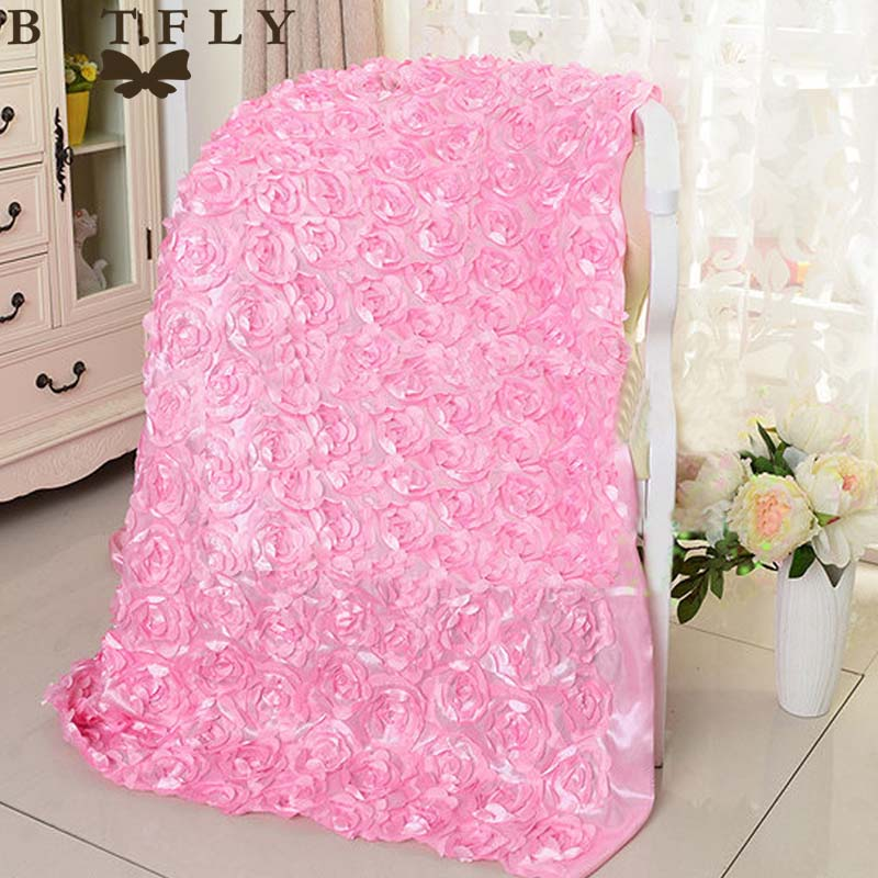 145cm*5Yard Satin fabric 3D Rose Flowers Aisle Runner Marriage Decor Carpet Curtain For Wedding party Backdrop Decorations event