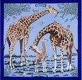 Twill Silk Scarf echarpes foulard women Giraffe square scarves shawls bufandas 130 * 130cm