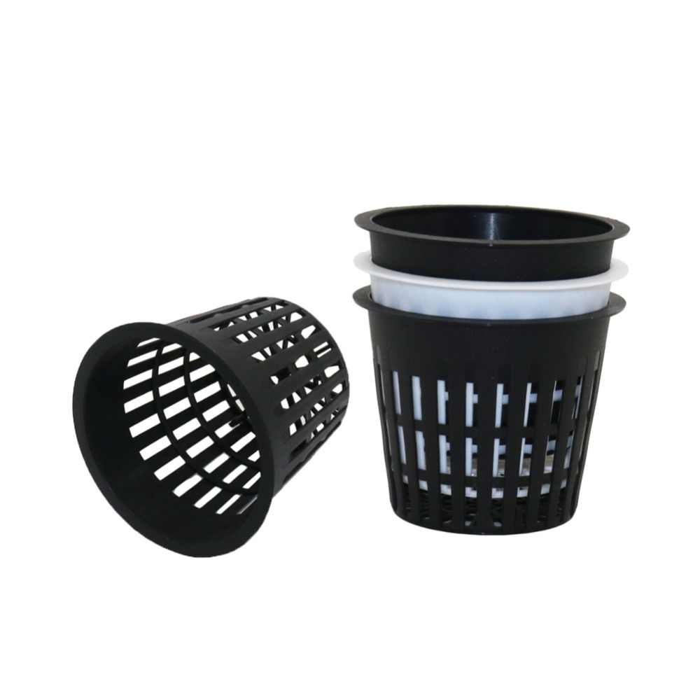 PP Plastic Nursery Net Cup Hydroponic Mesh Pot Balcony Aeroponic Vegetable Plant Soilless Cultivation Basket 10 Pcs