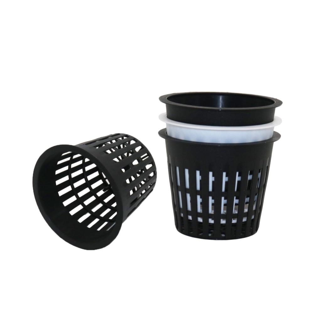PP Plastic Nursery Net Cup Hydroponic Mesh Pot Balcony Aeroponic Vegetable Plant Soilless Cultivation Basket 10 Pcs|Nursery Pots| |  - title=
