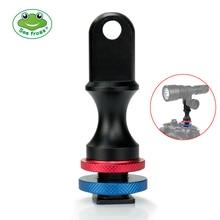 YS Adapter głowicy Cold Shoe Mount podwodne oświetlenie fotograficzne System Adapter uchwyt palnika złącze dla wszystkich Seafrogs Meikon Case