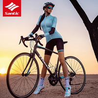 2019 New Santic Women Cycling Jersey Summer Breathable MTB Road Bike Short Sleeve Jersey Quick Dry Bicycle Tops Riding Equipment