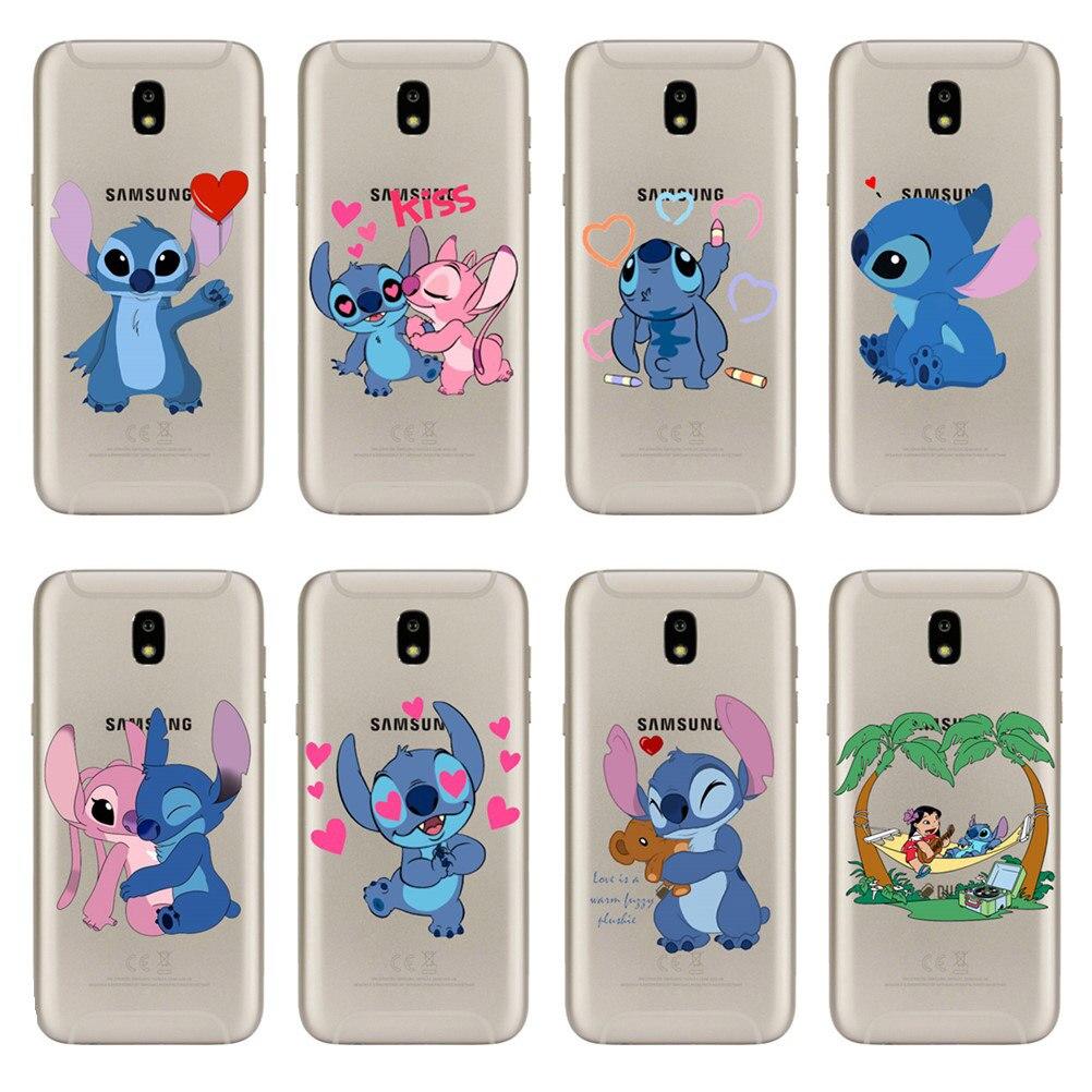 cartoon funny Stitch little girl Soft silicone TPU Cover For Samsung Galaxy J3 J5 J7 2016 2017 J6 J8 2018 Newest Phone Case