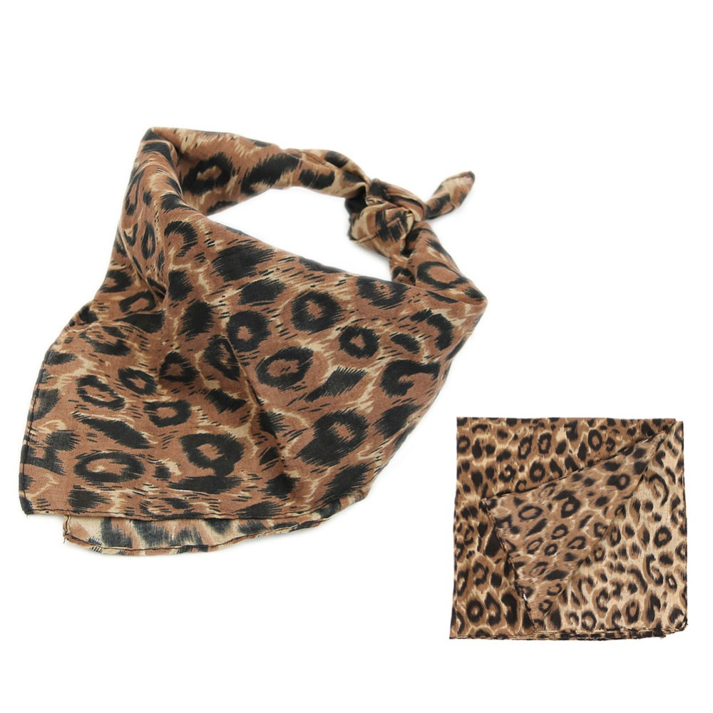 2018 NEW Bandana Double Side Leopard Print Paisley Head   Wrap   Bikers   Scarf   Headband
