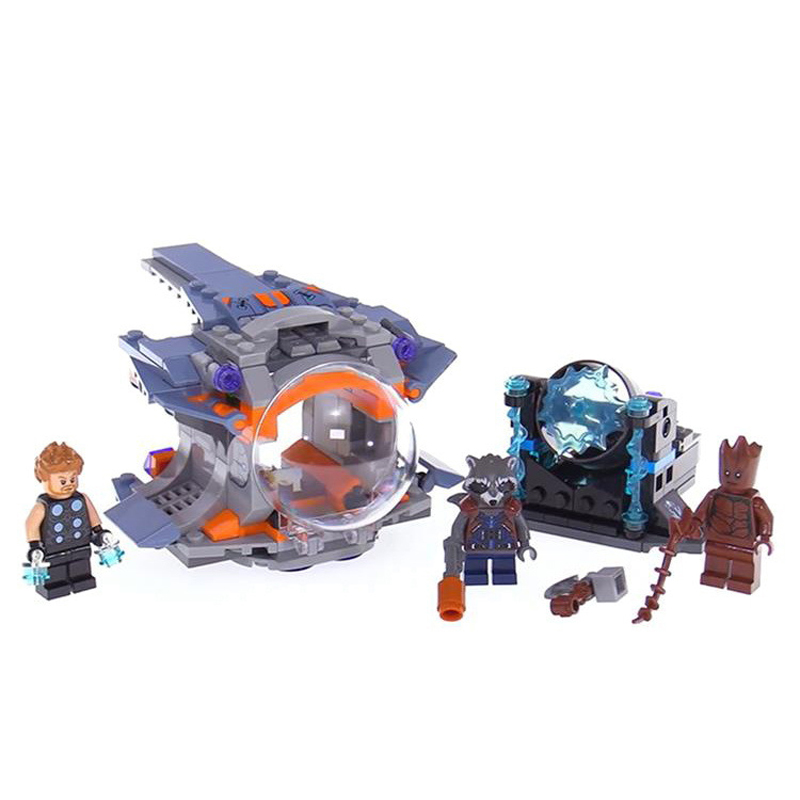 07105 Thor Weapon Quest Set Building Blocks Compatible Legoing Super Heroes 76102 Avengers Infinity War Guardians of the Galaxy bela building blocks guardians of the galaxy groot rocket star space war set diy bricks toy compatible with superheroes