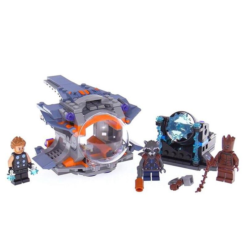 07105 Thor Weapon Quest Set Building Blocks Compatible Legoing Super Heroes 76102 Avengers Infinity War Guardians