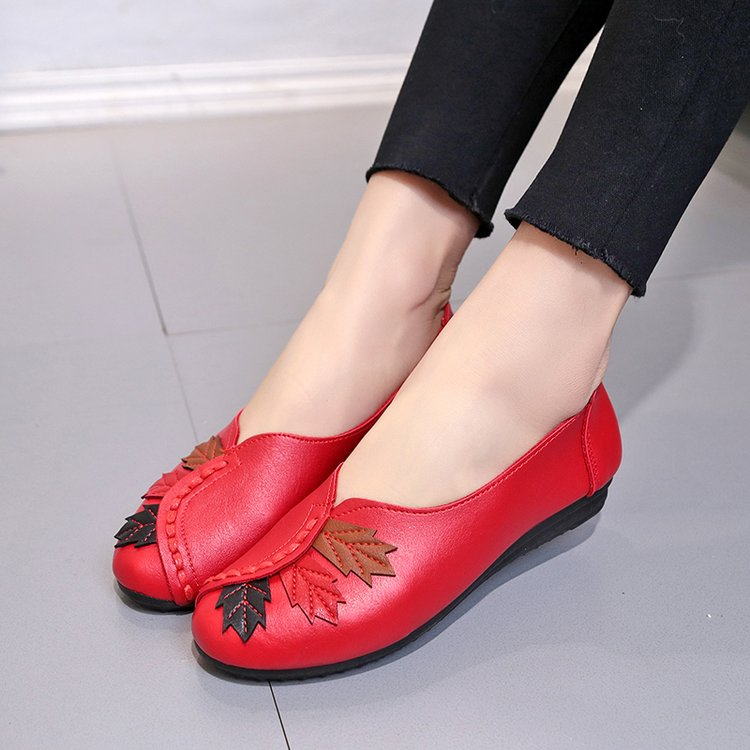 18 Soft Women Shoes Flats Moccasins Slip on Loafers Genuine Leather Ballet Shoes Fashion Casual Ladies Shoes Footwear E003 13