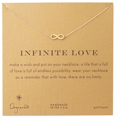 US $0 91 |Hot selling!!! Gold color chain infinity pendant necklace good  luck number 8 necklace lucky infinite collar necklace for women-in Chain