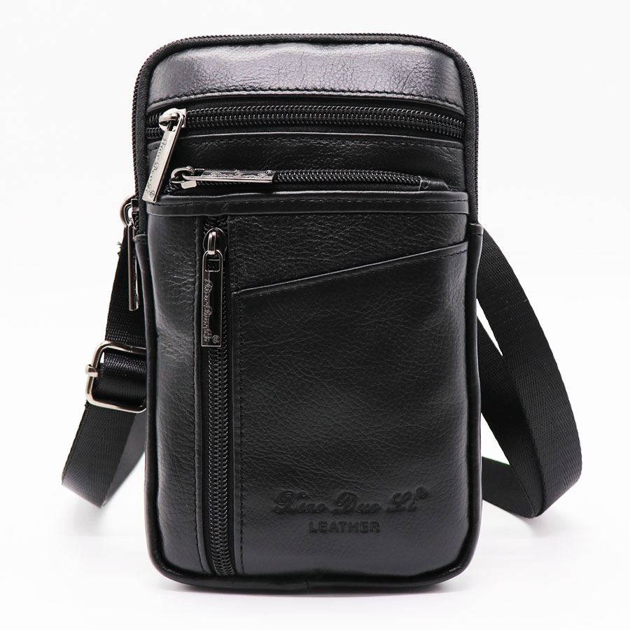 Brand Genuine Leather Mini Cross Body Bag Men's Shoulder Messenger Bags Male 7' Cell Phone Case Wallet Hip&Bum Belt Waist Pack universal waist belt bag pouch outdoor tactical holster military molle hip purse phone case