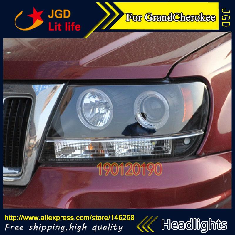Спрятал светодиодные фары, фары, спрятал грыжи лампы аксессуары чехол для машины Jeep GrandCherokee 1999-2004 стайлинг