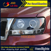 HID LED headlights headlamps HID Hernia lamp accessory products case for Jeep GrandCherokee 1999 2004 Car styling