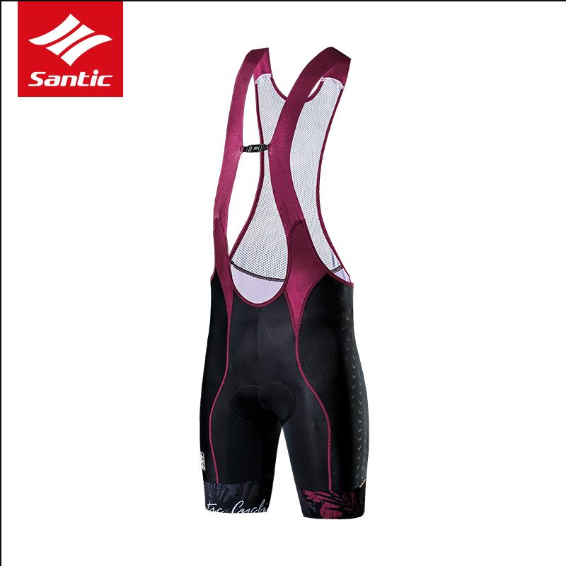 SANTIC Cycling Short 4D Sponge Padded Bib Short 2018 Cycling Bib Short With Gel Pad Bicycle Cycling Pants/MTB Bike Riding Shorts santic cycling bib shorts men 4d italian imported pad mtb road bike bib shorts breathable bicycle short pants bermuda ciclismo