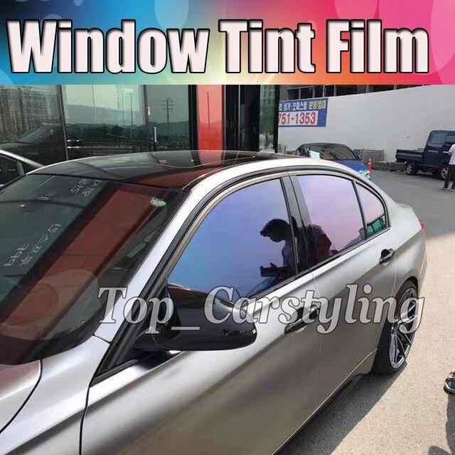 VLT 18% Chameleon Window tint  Car Window Tint For left / right  car windows Film Glass Car Auto solar tinting 1.52x30m 5x98ft