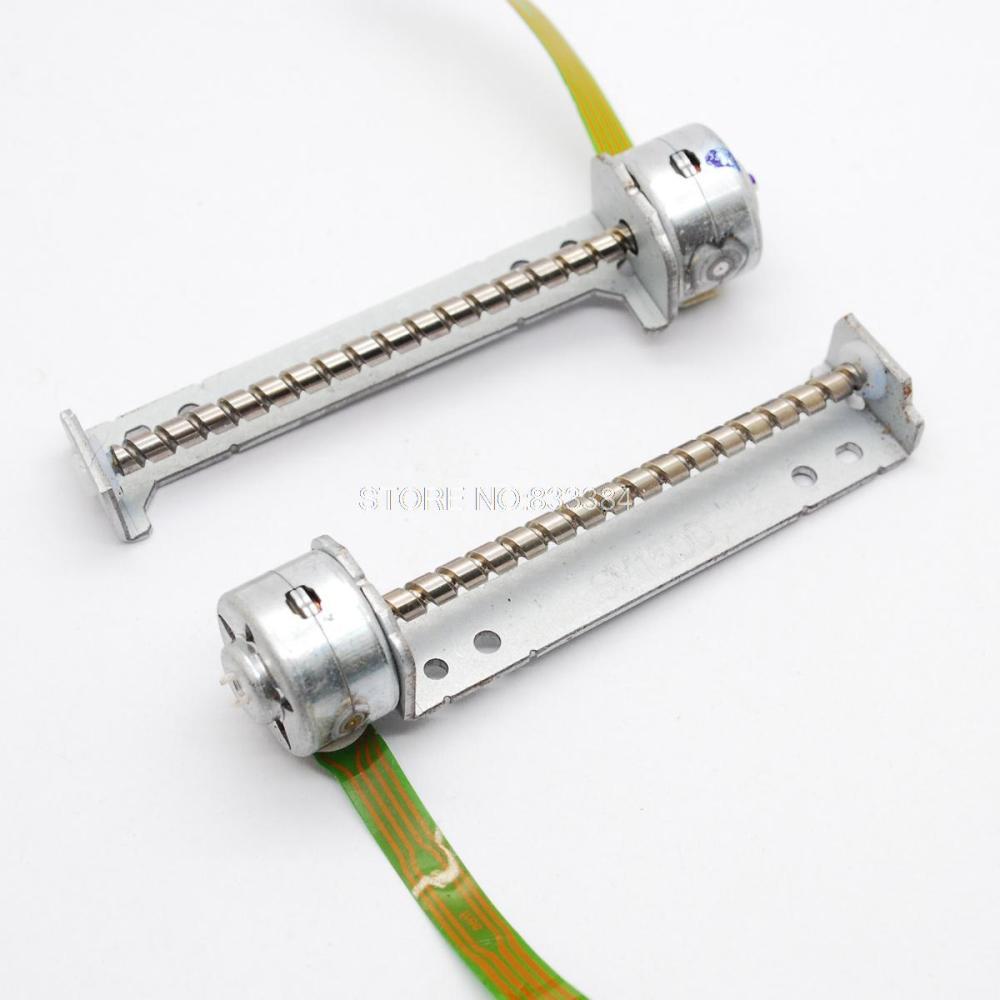 5 шт. 3-6 в 2 фазы 4 провода микро шаговый двигатель гибридный шаговый двигатель с винтовым стержнем 52,5 мм