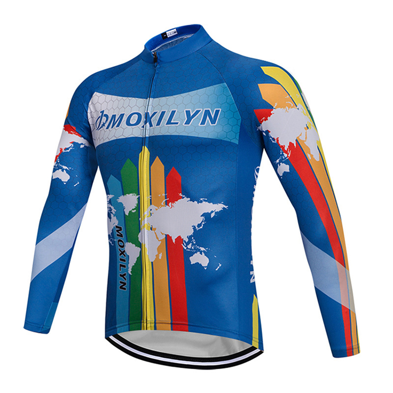 Moxilyn Cycling Jersey Bicycle Maillot Bike Long Sleeve Clothing Riding Clothes Top Colourful Cycling clothes