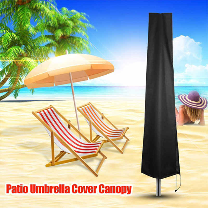 Waterproof Umbrella Cover Raincoat Anti-UV Sunshade Umbrella Outdoor Umbrella Cover Garden Weatherproof Rain Cover Accessories