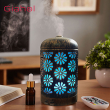 Aroma Diffusor Ultrasonic Air Humidifier Hollow Flower LED Night Light Essential Oil Diffuser Humidificador Anion Mist Maker