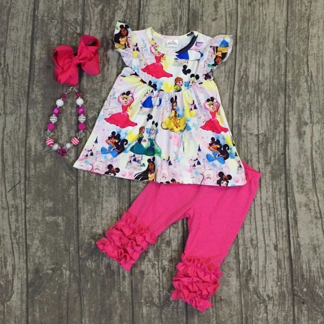 dad428783 Exclusived design!!! Princess outfit baby girls kids wear Summer ...