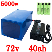 72V 5000W Lithium battery 72v 40ah scooter Battery 72V 40AH electric bike battery with 80A BMS+ 84V 5A charger free shipping