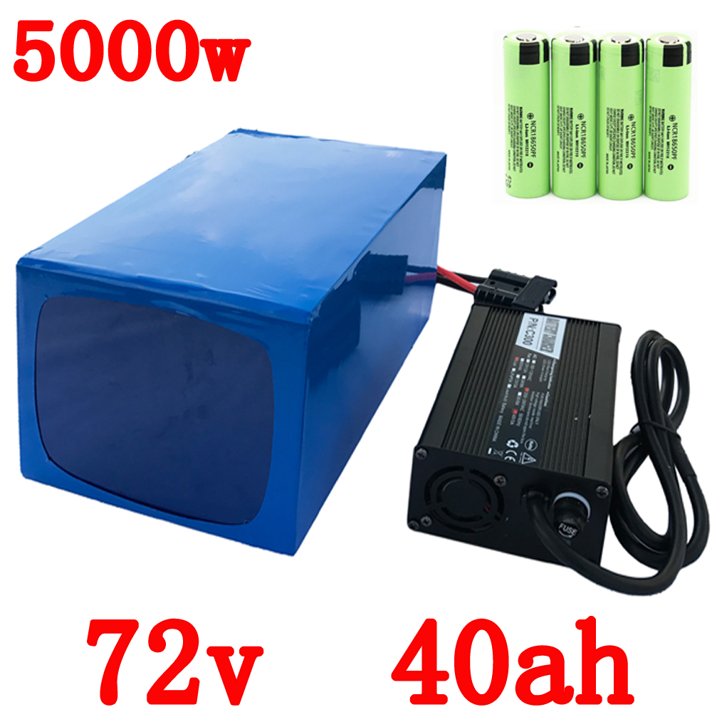 Free Customs Duty 72V 40AH lithium battery super power 5000W Electric bike battery 84V lithium ion battery pack + charger + BMS 72v 3000w lithium ion battery pack for scooter e motorcycle electric bike