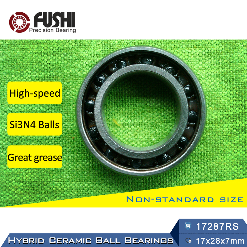 17287 Hybrid Ceramic Bearing 17x28x7 mm ABEC-1 (1 PC) Bicycle Bottom Brackets & Spares 17287RS Si3N4 Ball Bearings 17287-2RS браслет рутиловый кварц 8 мм 16 cм хир сталь