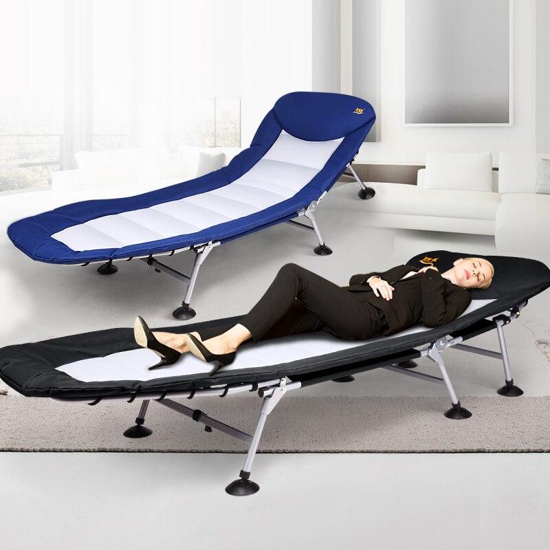20% Nouveau Multi-angle Réglable Wrap-around Fold Lit Bureau Sieste Lit Avec Oreiller Chaise Double Épaissie Lit surface Rouge Et Noir