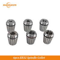 Daedalus 6PCS ER32 Spindle Chucks Spring 10mm 16mm 20mm Collet Set For CNC Motor Collet Lathe CNC Milling Collect Clamp Adapter