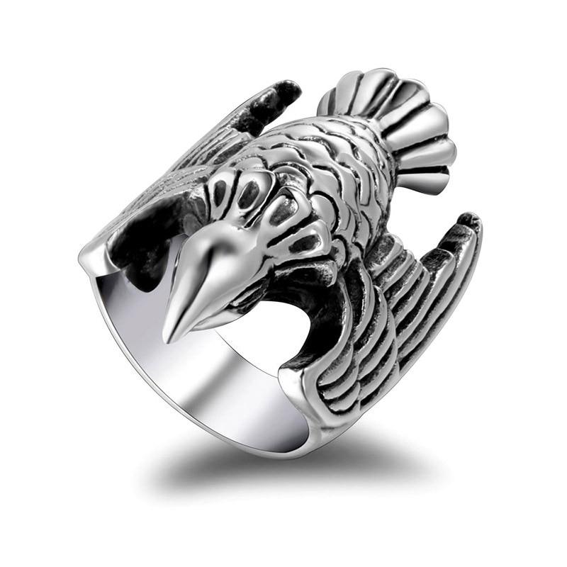 Retro Titanium Steel Fly Bird Ring Outdoor Self Defense Supplier Men And Women Rings #7 #8 #9 #10 #11 #12