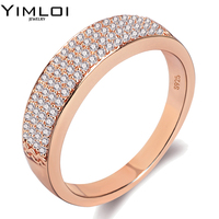 Fashion Women Crystal Rings Wholesale Gold Color Stainless Steel Wedding Rings For Women Party Jewelry RA030