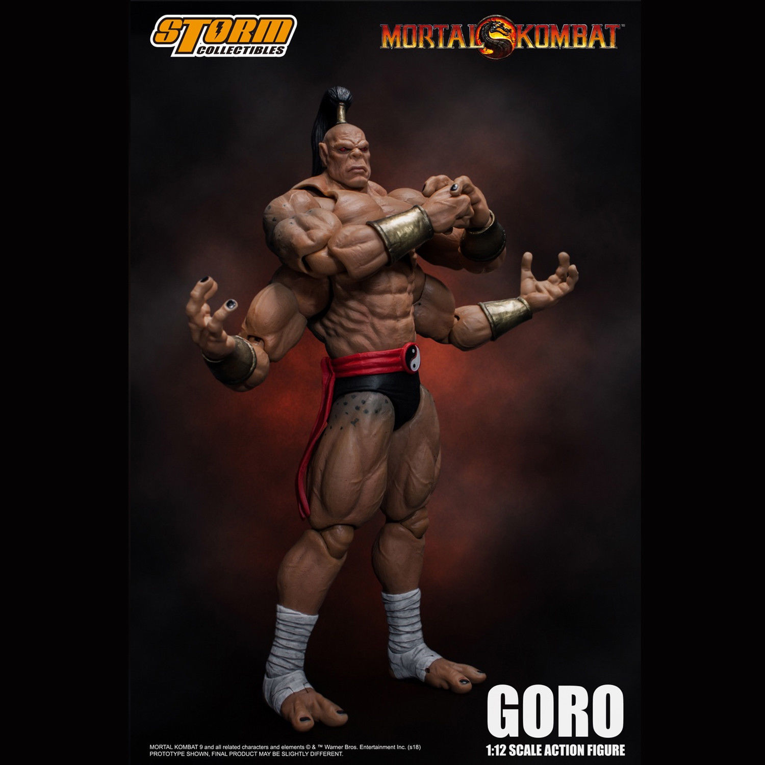 Storm Toys 1 12 Mortal Kombat Boss Goro Collection Action Figure