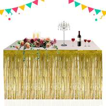 Colorful Hawaiian Tropical Party Table Decoration Fringed Table Skirt Summer Beach Parties Decoration Table Skirt Grass(China)