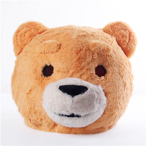 Plush Teddy Bear Head Mask Halloween Teddy Mascot Costume Christmas