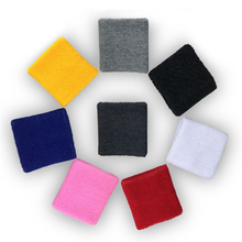 1 pair 8*8cm Towel Wrist Sweatband Support Gym Cycling Wristband Hand Brace wraps for Tennis Basketball Sport Bracer