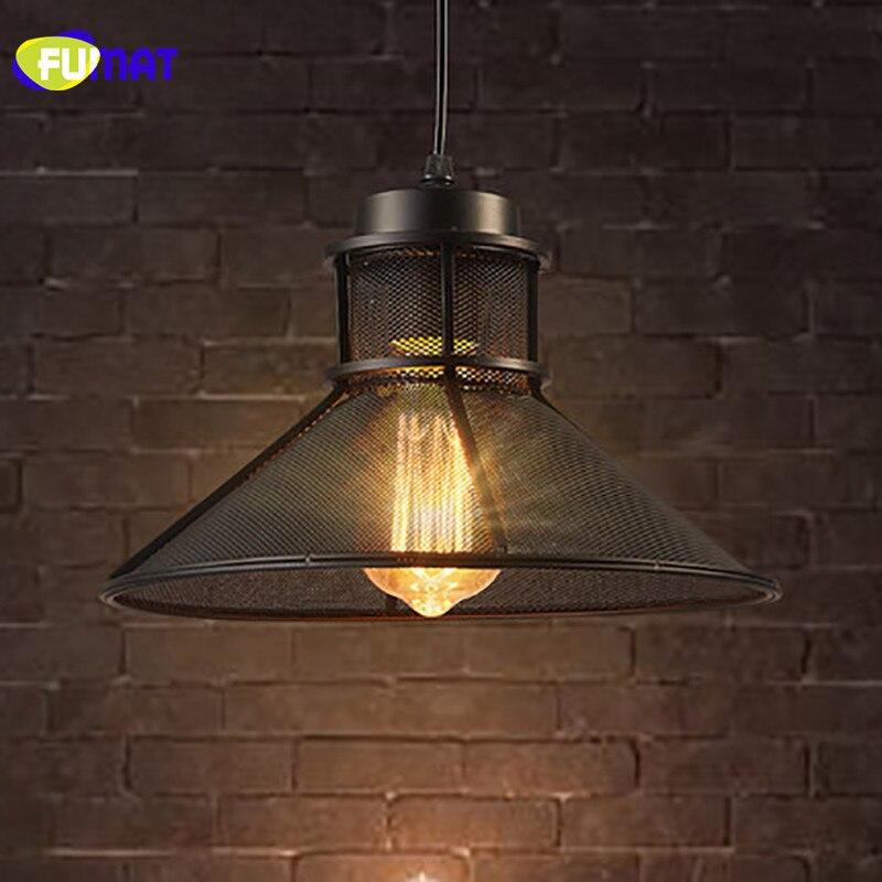 Lampade A Sospensione Per Ufficio Prezzi.Fumat Loft Retro Lampada A Sospensione Singola Testa Di Ferro Nero