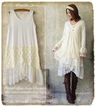 Кружева лоскутное американский одежда шифон женщин платье плиссированные 1138 tunique femme vestido манга лонга хиппи boho лолита мори девушка