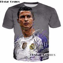 PLstar Cosmos 2017 verão Novo design de Moda 3d t-shirt Cristiano Ronaldo  Estrela do 71ccf63799143
