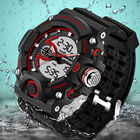 SANDA Army Military Sport Watch Men Top Brand Luxury Electronic LED Digital Wrist Watches For Men