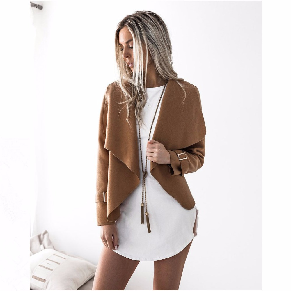 2018 New Spring Women Fashion Turndown Collar Cardigan Coat Female Open Stitch Short Jacket Coats Thin Slim Cardigan Outerwears