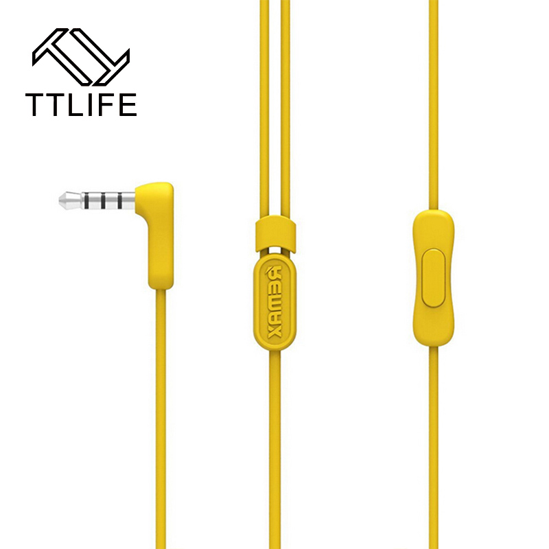 TTLIFE Brand Noise Cancelling Earphone Music Earphones With Mic Universal Candy In-ear Earpods for All Mobile Phone Auriculares haibangrui brand genuine in ear earphone with mic