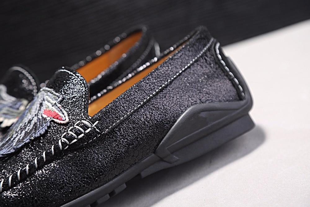 Negru Pantofi din piele naturala pentru barbati Pantofi casual pentru - Pantofi bărbați - Fotografie 4